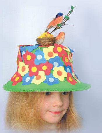 Шляпа из бумаги для девочки в детский сад