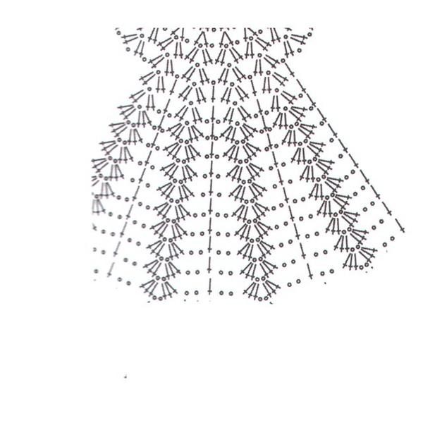 Вязание крючком подолы платьев 398