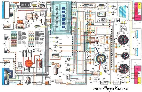 Электросхема ВАЗ 21214 (схема