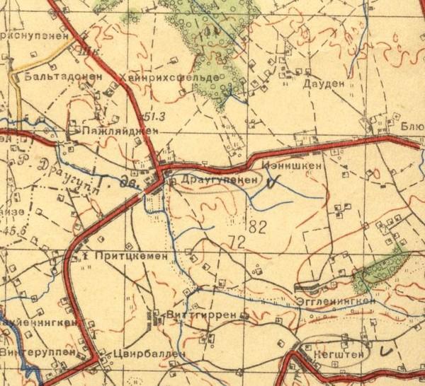 По квадрату указанному на схеме (8373). на карте есть ближайший н.п. Иенишкен.