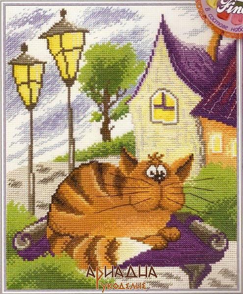 Рыжий кот. схемы для вышивки