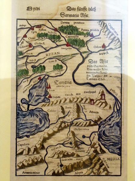 Карта 1550 года