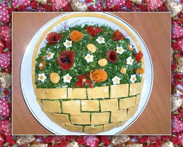 Салатов своими руками фото из овощей фото