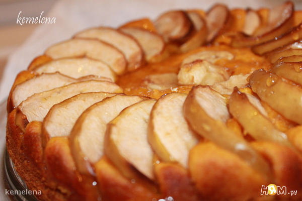 тыквенный пирог с яблоками рецепт с фото