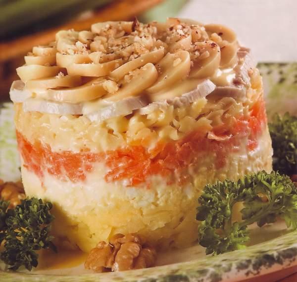 слоеные салатики рецепты с фото