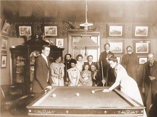Игра в бильярд 1890 год - карамболь