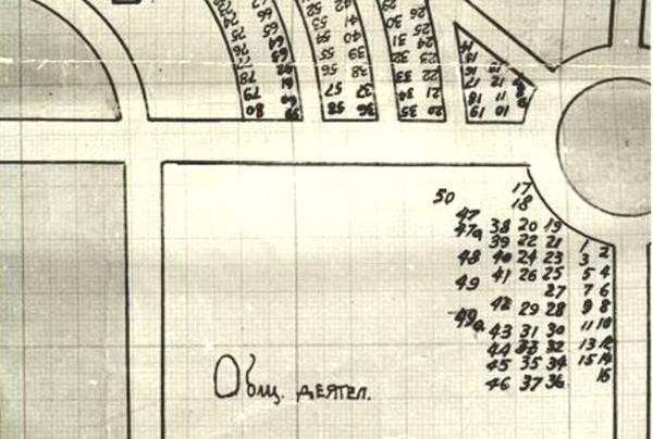 Вольноопределяющийся Сергей Александрович Шлихтер и сестры милосердия, погребенные на Братском кладбище героев Первой Мировой войны в Москве. I-2127