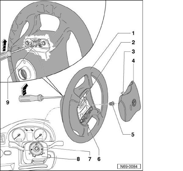 как разобрать руль фольксваген шаран