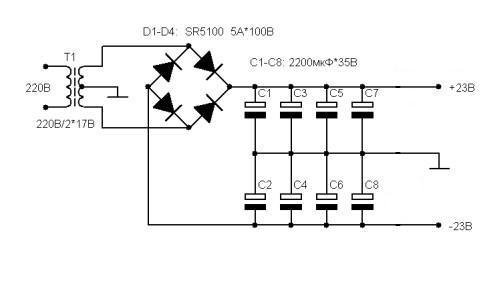 Схема блока питания для компьютера hedy-350atx.