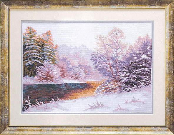 Зимний пейзаж. схемы для