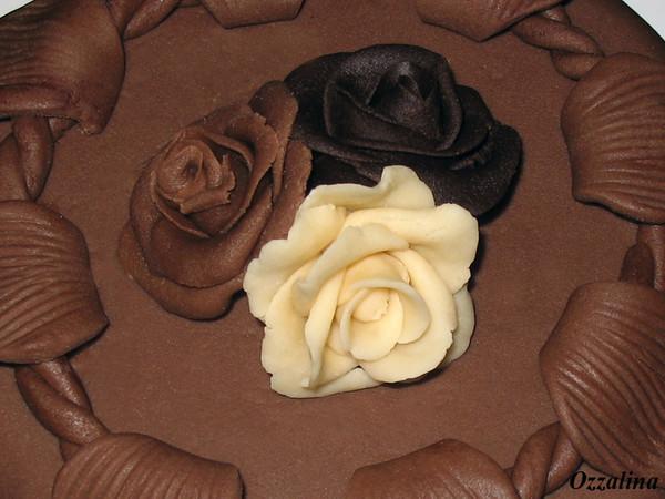 Розы из теста своими руками на торт