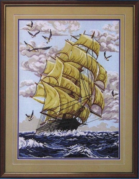 Корабль. схемы для вышивки