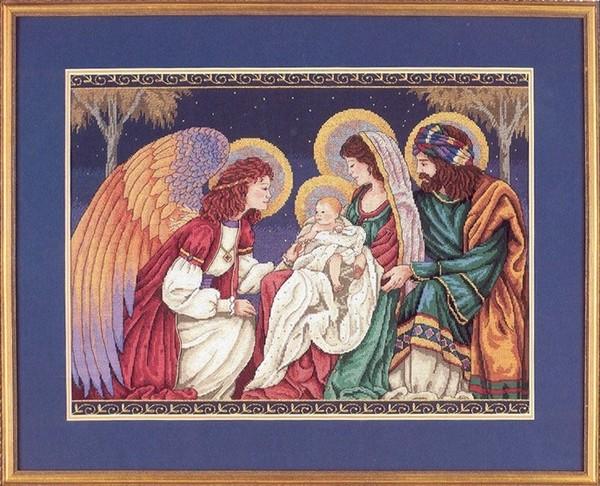 Святое семейство с ангелом.