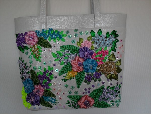 ribbon embroidery bags
