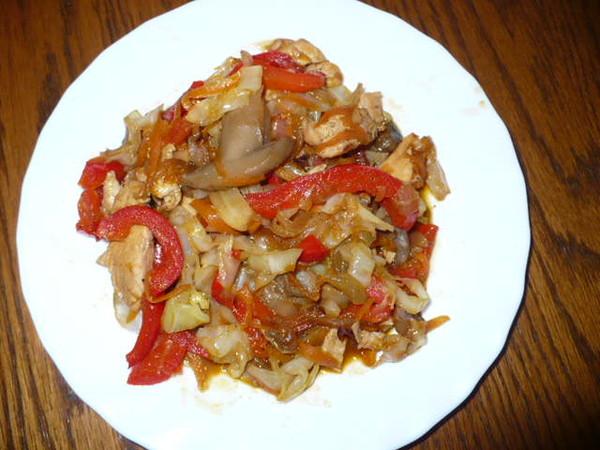 Овощное блюда по-китайски