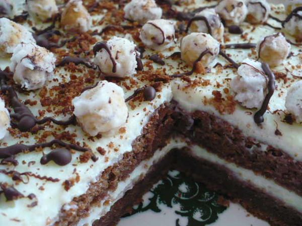 шоколадно-ореховый торт с карамельным кремом рецепт и фото