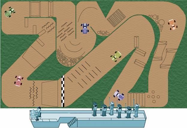 Как сделать гоночную трассу 730
