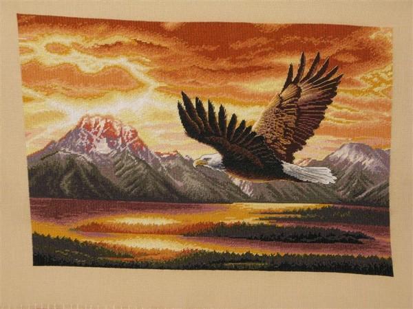 форму огромного орла.