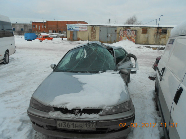 Бу запчасти Peugeot (Пежо) 406 седан 1.8 МКПП (рестайл) - капот, фары, решетка радиатора, зеркала, юбка бампера