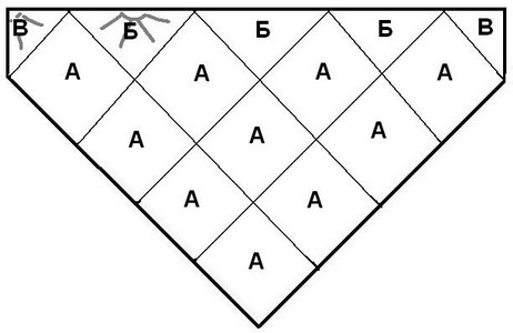 10 квадратов и 5 треугольников