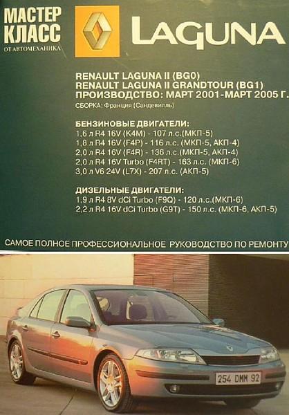 Renault Laguna II (BGO), Renault Laguna II (GRANDTOUR (BG1), (Рено Лагуна II ) [2007, PDF, DOC, RUS]