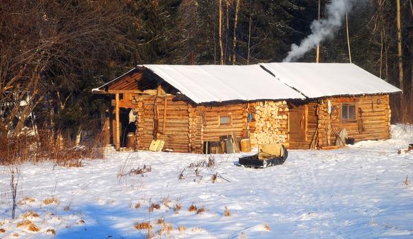 Фото Зимовье охотника.