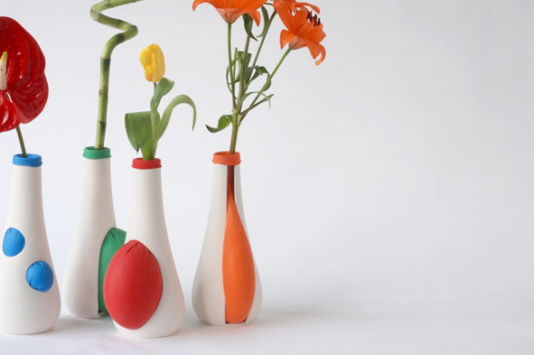 art vase with balloons