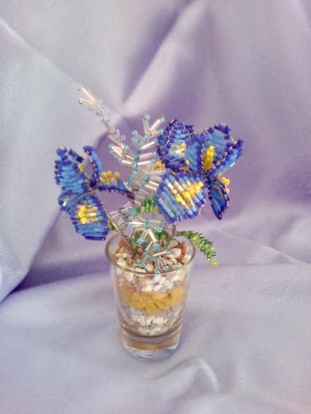 настроение: Творческое.  Метки: Цветы из бисера.