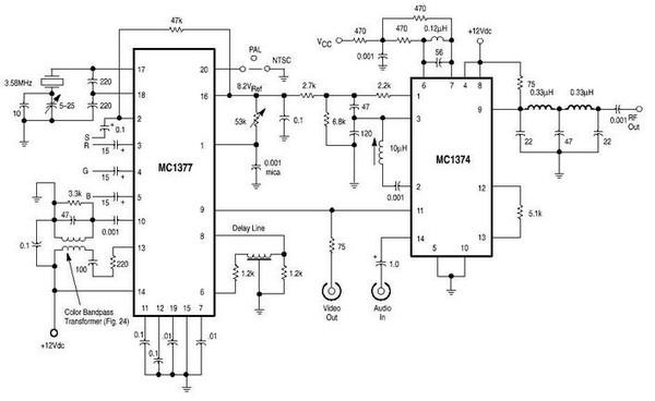 Вариант 3 Схема этого модулятора также предназначена для работы в диапазоне метровых волн.  Отличается она тем.