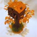Пластика под обжиг,бисер(рубка),проволока,гипс,клей ПВА,мох(если нет, любой декор, напоминающий травку)фольга.шерсть...
