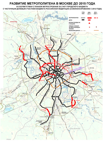 Moscow metro development strategy is primarily aimed at completing the