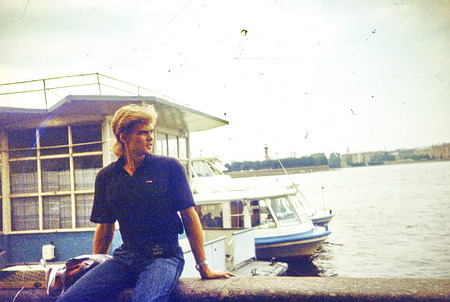 Май 1991 года. Дворцовая набережная, Ленинград, СССР