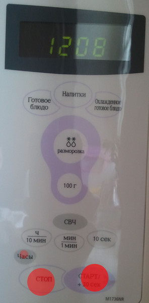 Карта кликов микроволновки