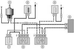 Рис. 10.10.  Схема включения электродвигателя вентилятора.