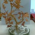 """Дерево из бисера  """"Осенний клён.  Поделка, изделие.  Samarskaya."""
