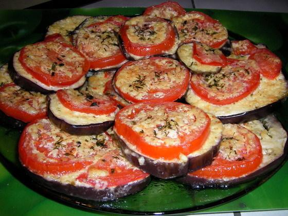 Армянский салат из баклажанов с помидорами.