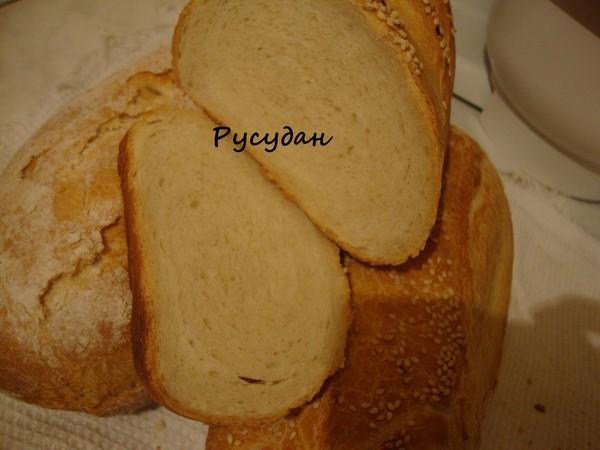 Самый вкусный нарезной хлеб (на закваске)