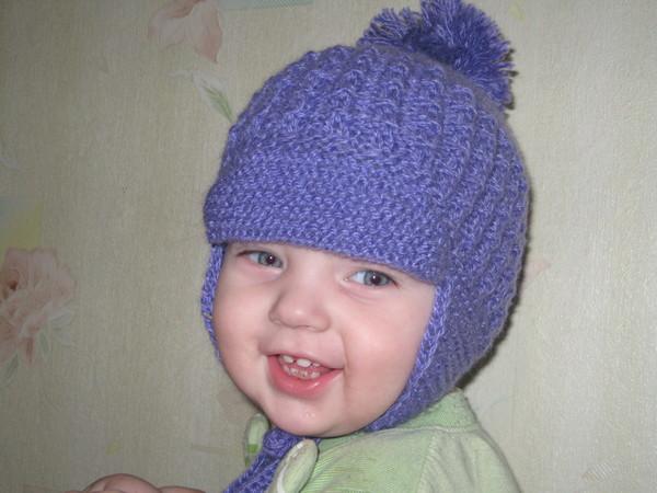 Вязание шапочка для мальчика 3 месяца 33