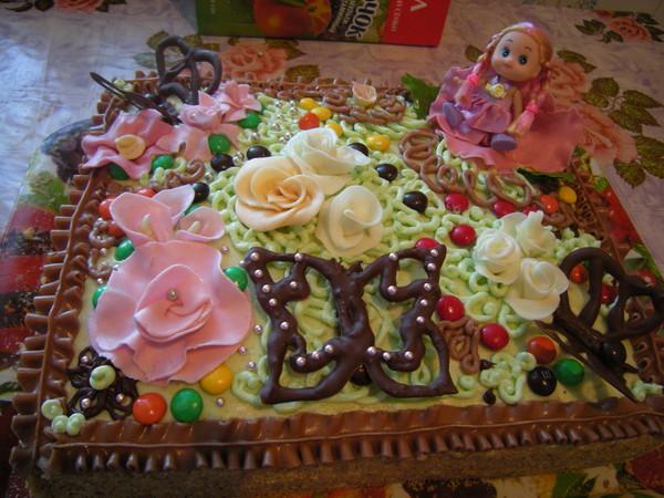 Торт на заказ на день рождения девочке