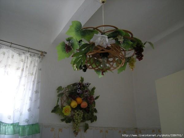 Люстра на кухню своими руками фото