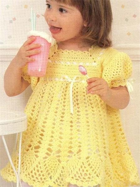 Описание вязание платьев для девочек