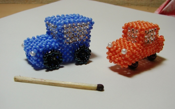 МК машина из бисера часть 1 - статей - Плетение бисером украшений.