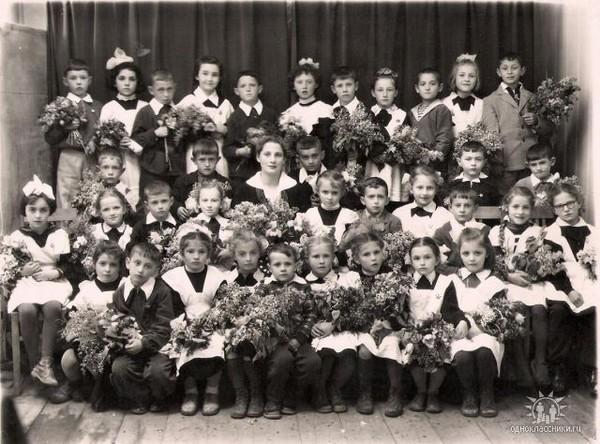 1-Б, школа №2, г.Сороки 1959г.