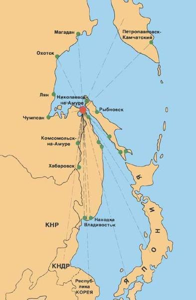 Карта Дальнего востока.