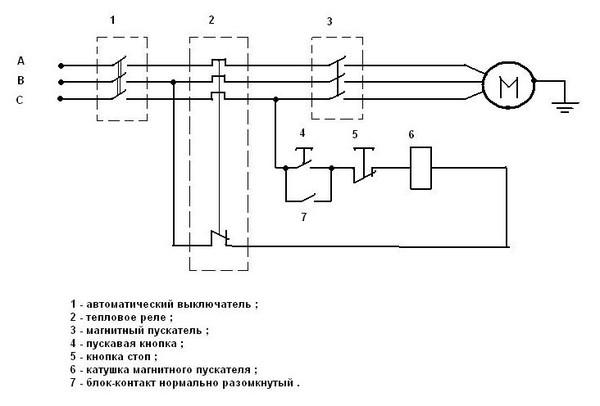 Магнитные пускатели серии ПМЕ.  Подключение трёхфазного...