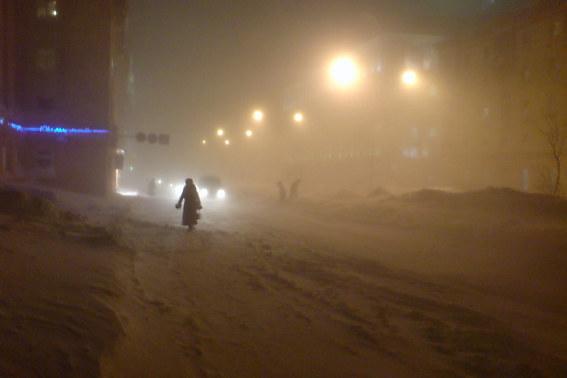 Норильск, пурга, 2008