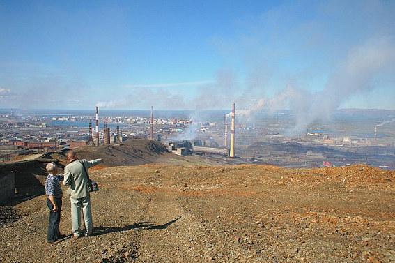 Норильск, вид на Никелевый завод
