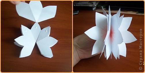Открытки своими руками из бумаги объемные цветы