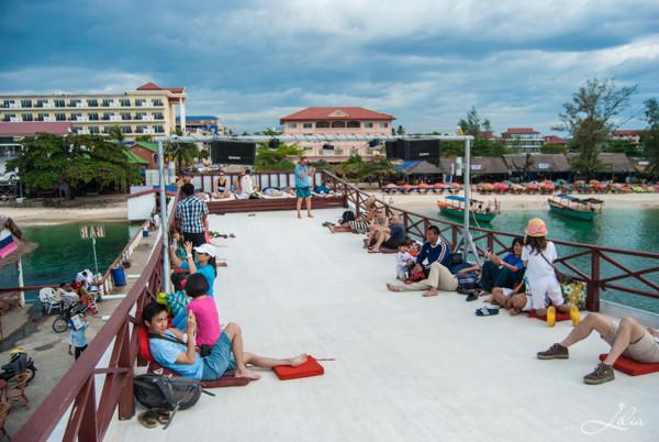 Koh Rong Samloem: Party Boat, верхняя палуба