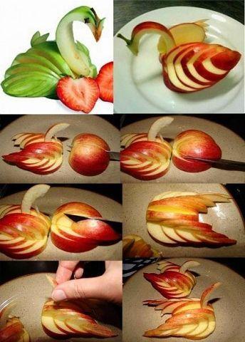 Нарезка яблок на праздничный стол пошагово